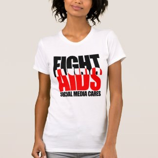 Fight AIDS Social Media Cares Women's Shirt