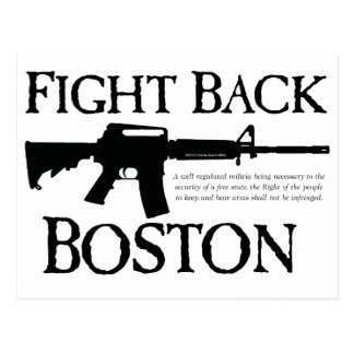 FIGHT BACK BOSTON! POSTCARD