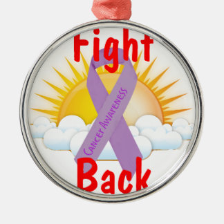Fight Back Cancer Awareness Christmas Ornaments
