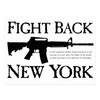 Fight Back New York Rebellion Ware Postcard