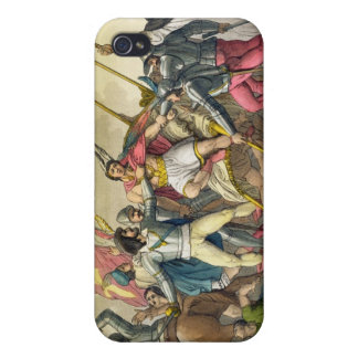 Fight Between Local Indians and Conquistadors (col iPhone 4 Cases