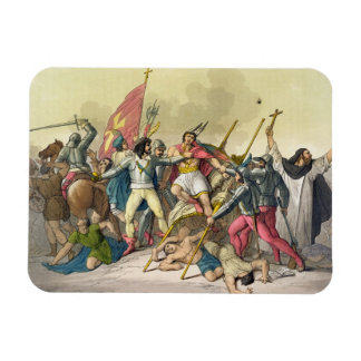 Fight Between Local Indians and Conquistadors (col Flexible Magnet