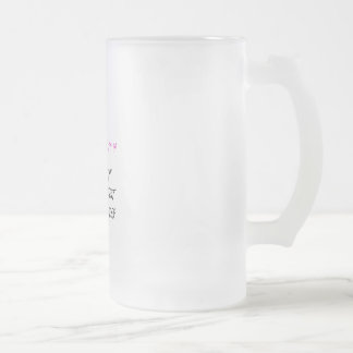 Fight breast cancer frosted glass beer mug