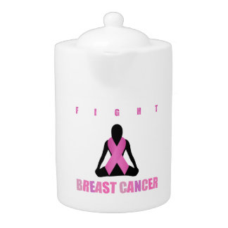 Fight breast cancer- pink ribbon on a womans body