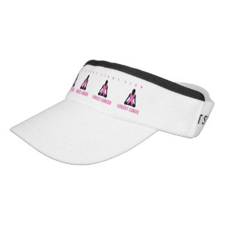 Fight breast cancer- pink ribbon on a womans body visor