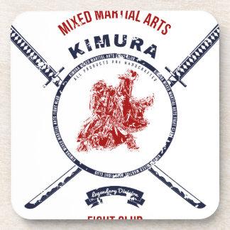 Fight Club Grunge print with samurai swords Coaster