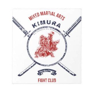 Fight Club Grunge print with samurai swords Notepad