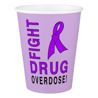 Fight Drug Overdose Paper Cup