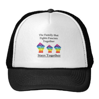 Fight Facsists Pride Trucker Hat