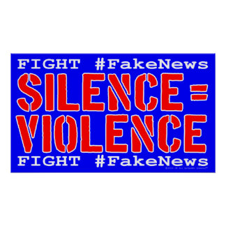 Fight #FakeNews Protest Poster