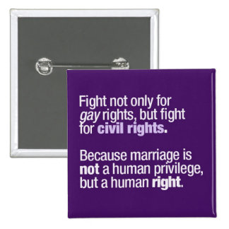 Fight for Gay Rights 2 Inch Square Button