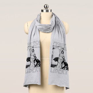 FIght for Liberty! Lady Liberty with Sword - Black Scarf