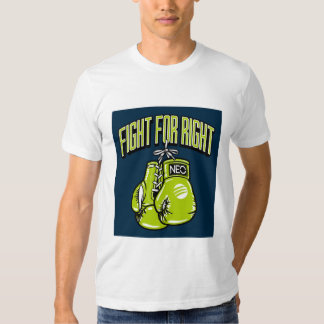 Fight for right green boxing gloves t-shirt