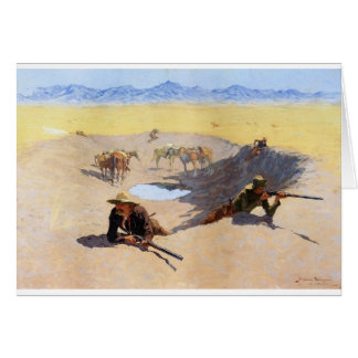 Fight for the Water Hole by Frederic Remington Card