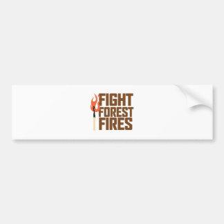 Fight Forest Fires Bumper Sticker