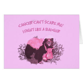 Fight Like A Badger Card