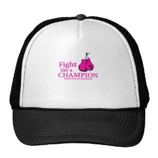 Fight Like A Champion Breast Cancer Gift Trucker Hat