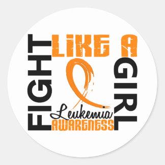 Fight Like A Girl 3.3 Leukemia Round Sticker