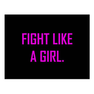 Fight Like A Girl Postcard