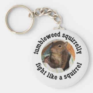 Fight Like a Squirrel Keychain