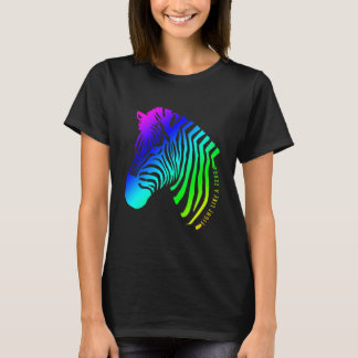Fight Like A Zebra - rainbow T-Shirt