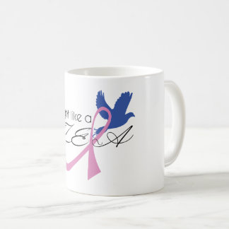 fight like a zeta breast cancer awareness mug