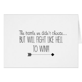 Fight Like Hell ~ Cancer Card