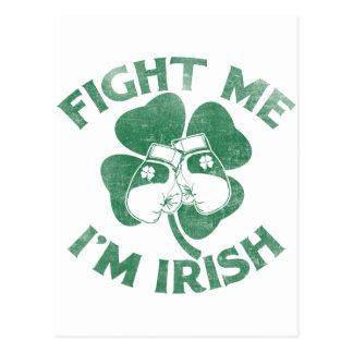 Fight Me I'm Irish Postcard