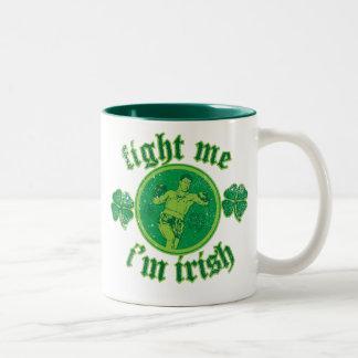Fight Me I'm Irish Two-Tone Coffee Mug
