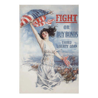 Fight or Buy Bonds -- WW1 Poster