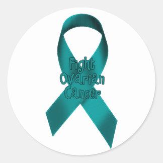 Fight Ovarian Cancer Classic Round Sticker
