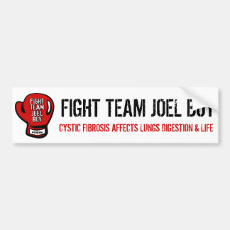 Fight Team Joel Boy Bumper Sticker
