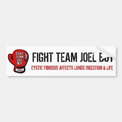Fight Team Joel Boy Bumper Sticker