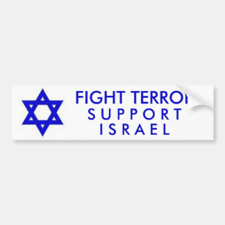 Fight Terror Support Israel Bumper Sticker
