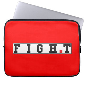 fight text message emotion feeling red dot square laptop computer sleeve