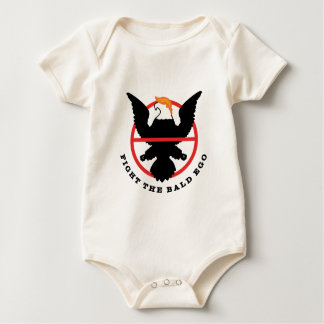 Fight the Bald Ego (light) Baby Bodysuit