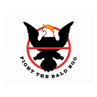 Fight the Bald Ego (light) Postcard
