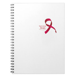 Fight To Win Against Brain Aneurysm Awareness Spiral Notebook