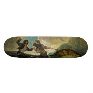 Fight with Cudgels by Francisco Goya c 1820 Skate Decks