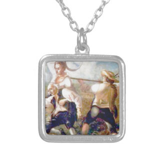fight with your might silver plated necklace