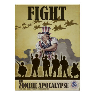 Fight Zombie Apocalypse Poster