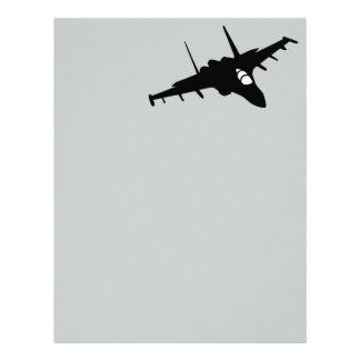 Fighter aircraft letterhead design