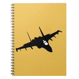 fighter aircraft spiral note books