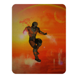 """Fighter in the sunset 4.25"""" x 5.5"""" invitation card"""