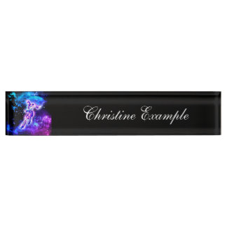 Fighter in the universe desk name plate