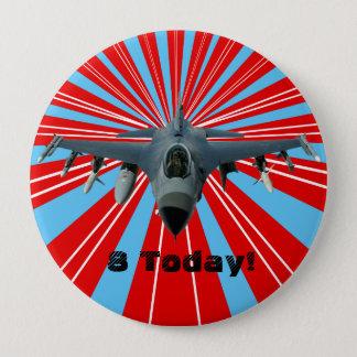 Fighter Jet 4 Inch Round Button