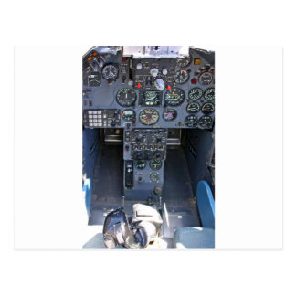 Fighter Jet Cockpit Postcard