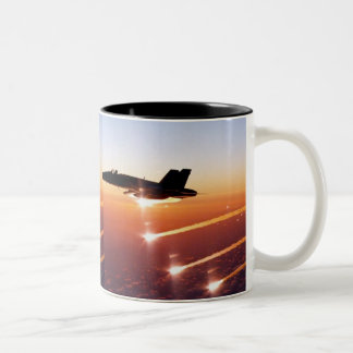 FIGHTER JET HOT FLARES Two-Tone COFFEE MUG