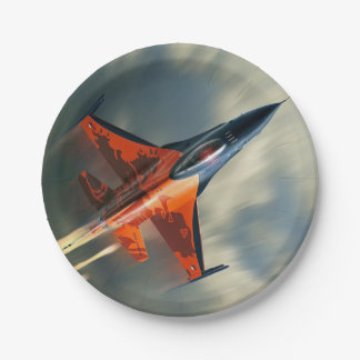 Fighter Jet Military airplane speed Paper Plate