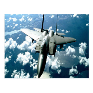 fighter jet peace and guard postcard